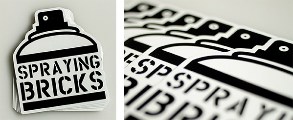 Black and white silkscreen sticker printing