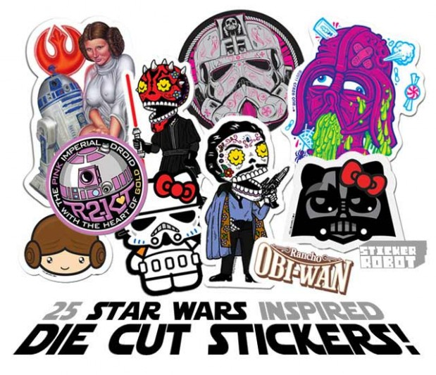 A photo of some die cut stickers