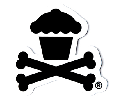 Die cut vinyl cupcake sticker