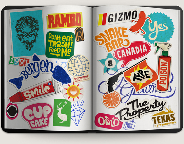 Amazing Die Cut Sticker Typography And Illustration Sticker Robot - What are custom die cut stickers