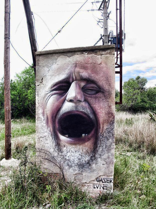 Concrete Beautification Roadside Street Art In Spain