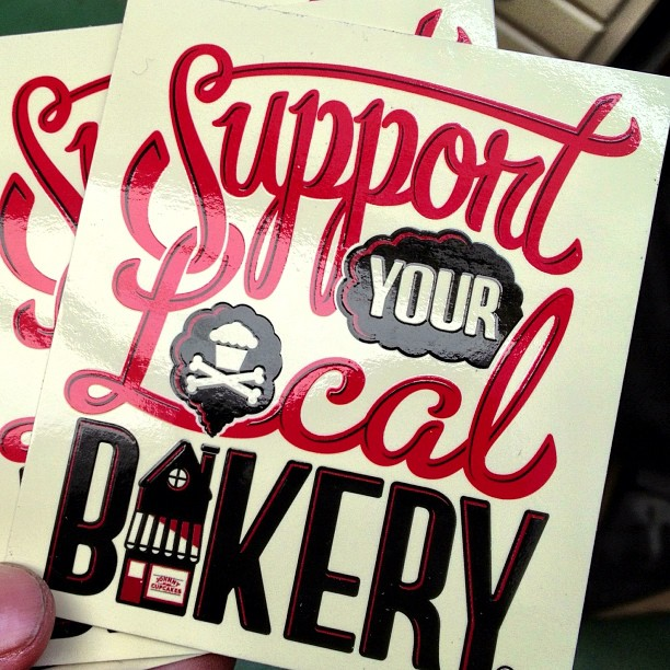 Support your local bakery vinyl stickers