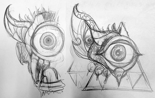Laptop sticker concept sketch 2