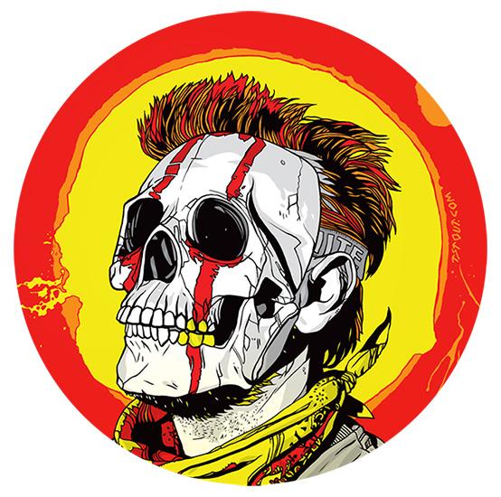 Eljoker vinyl stickers skullmask round vinyl stickers