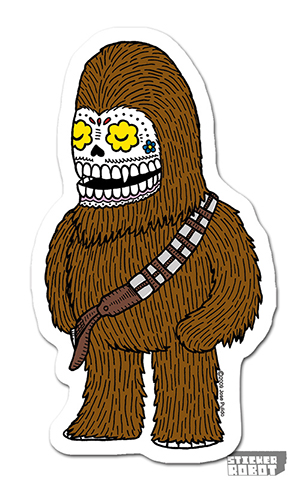 Custom Shape Chewbacca Sticker