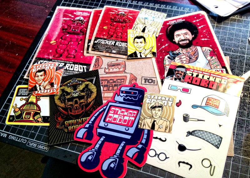 Friday  Google  Custom Sticker Giveaway Sticker Robot - Custom decal stickers