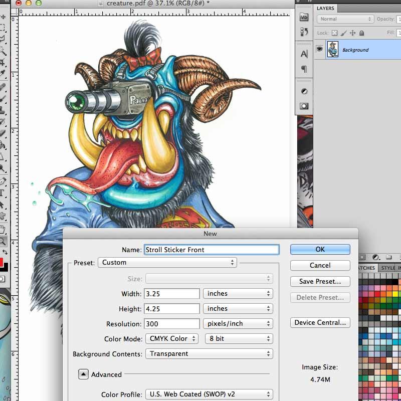 Custom Die Cut Sticker Design Sticker Printing Tutorial - Decal graphics software