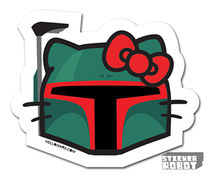 Vinyl Die Cut Sticker Boba Fett