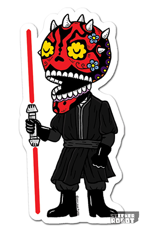 Vinyl Die Cut Sticker Darth Maul