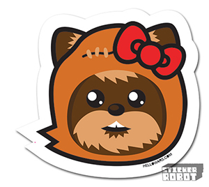 Vinyl Die Cut Sticker Ewok