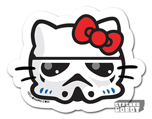 Hello Stormtrooper Vinyl Die Cut Sticker