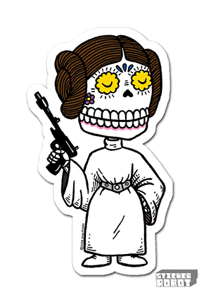 Leia Vinly Silk Screen Sticker