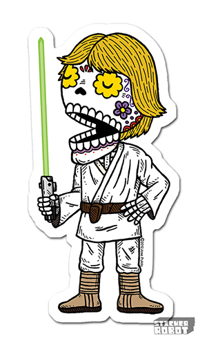 Luke Skywalker Vinyl Diecut Sticker