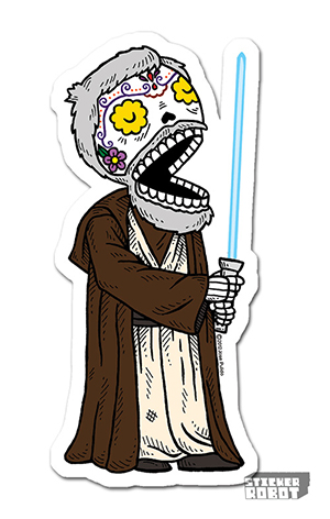 Vinyl Die Cut Sticker Obiwan