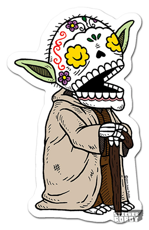 Vinyl Die Cut Sticker Yoda