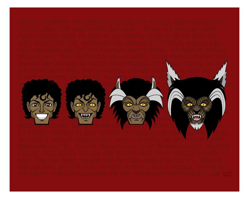 Thriller stickers