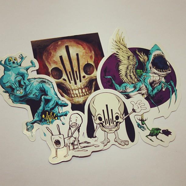 Alex pardee custom stickers