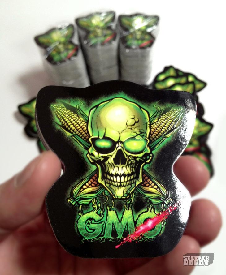 Anti monsanto diecut stickers