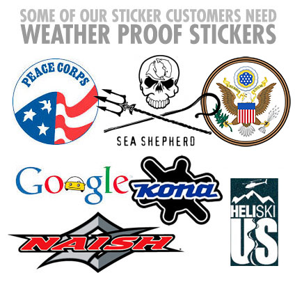 customer stickers