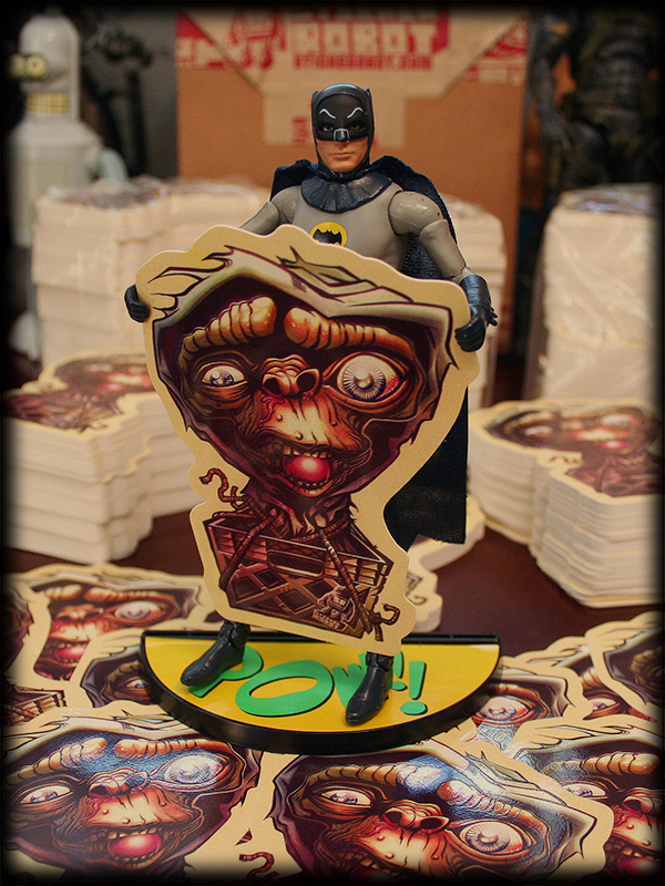 Batman likes E.T. Custom Shaped Stickers!