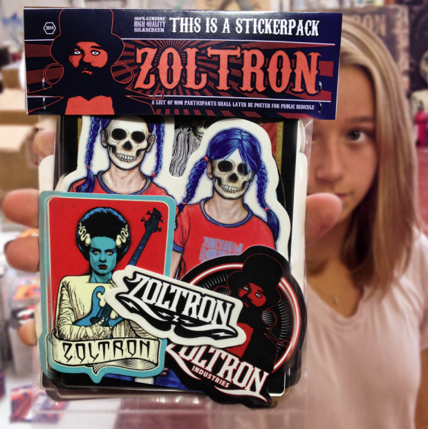 New zoltron stickerpacks