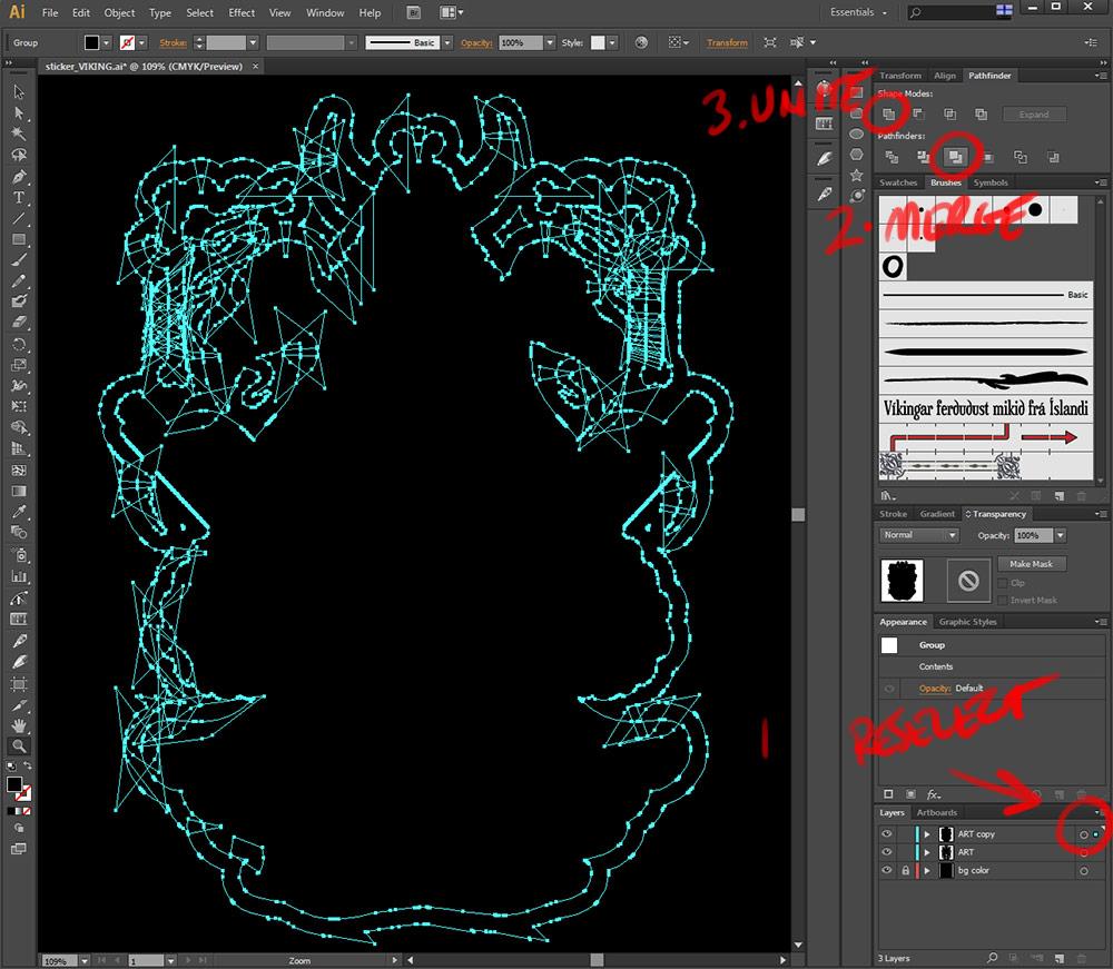 Custom Vector Die Cut Vinyl Sticker Tutorial In Illustrator CS - How to make custom die cut stickers