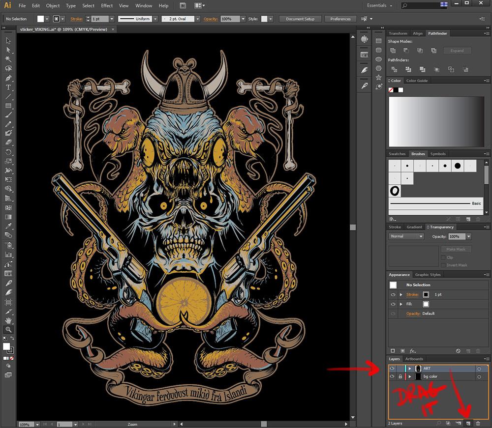 Second image in the custom die cut sticker tutorial