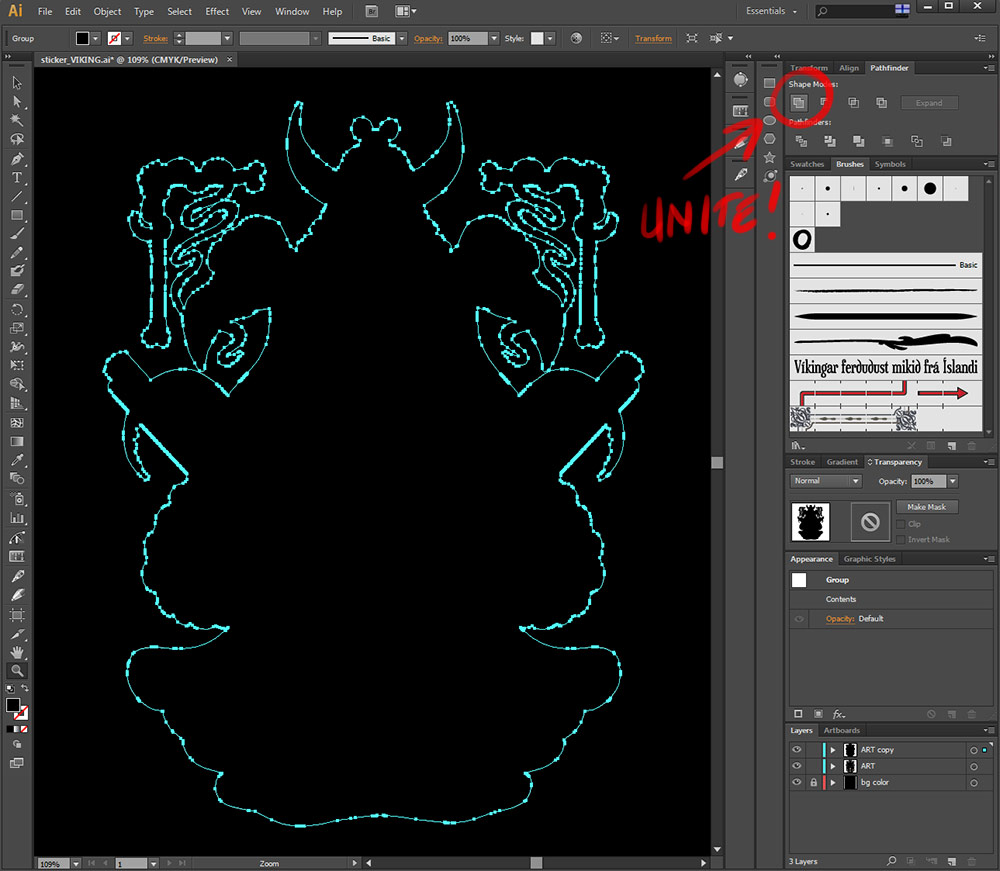 Custom Vector Die Cut Vinyl Sticker Tutorial In Illustrator CS - Decal graphics software