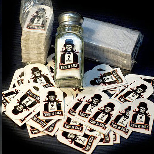 Clear Vinyl Salt And Pepper Stickers From Zoltron