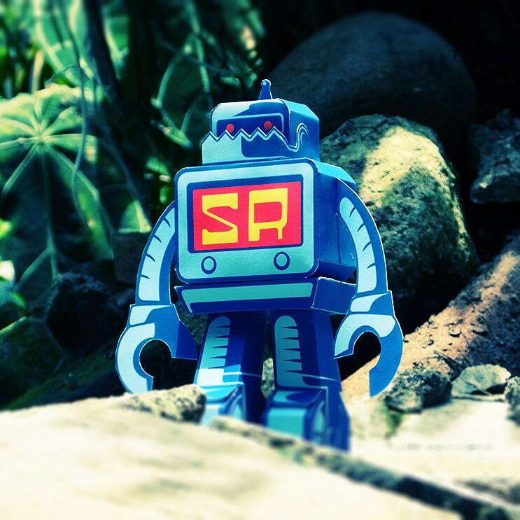 Sticker robot paper toy download now
