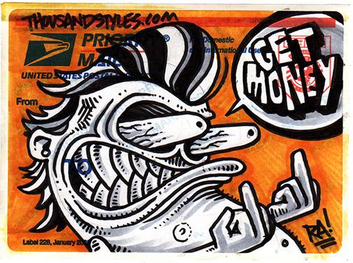 Street art custom sticker