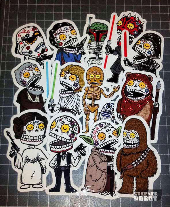 Custom die cut star wars stickers1 clear sticker