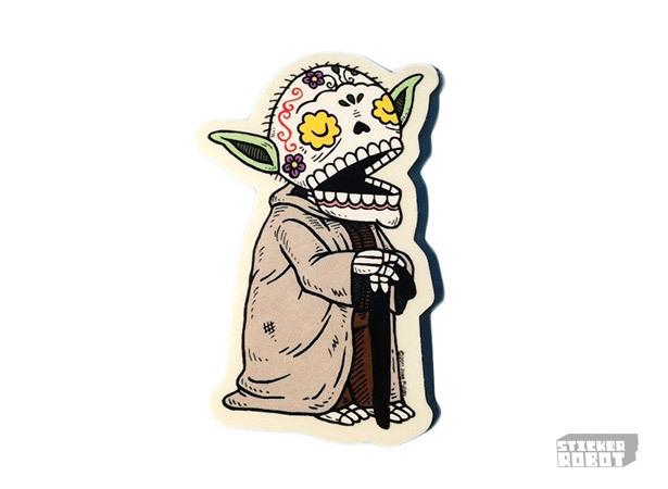yoda diecut sticker printing