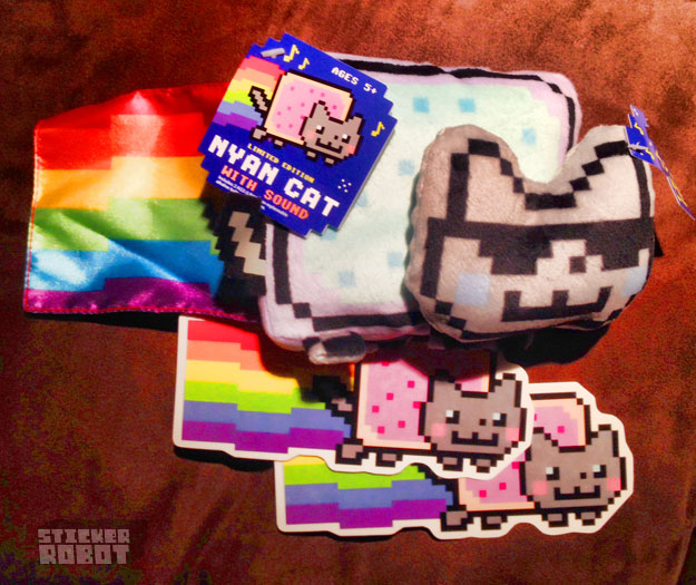 custom printed clear vinyl nyan cat stickers