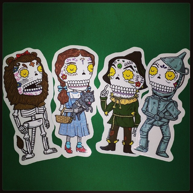 5 Vinyl Stickers of Your Choice by Jose Pulido