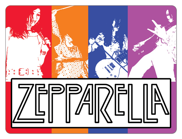 Led zeppelin cover band stickers