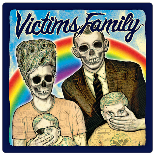 Print stickers for my band victims family