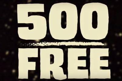 500 free custom sticker campaign