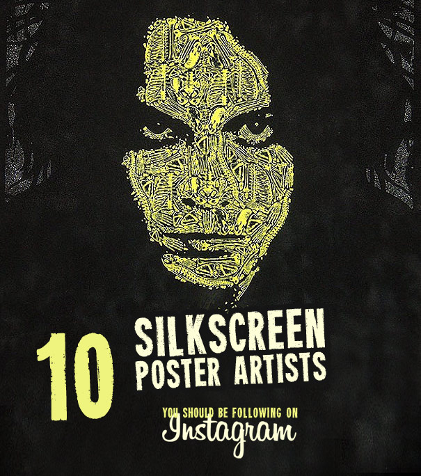 Silkscreen sticker and poster artists to follow on instagram