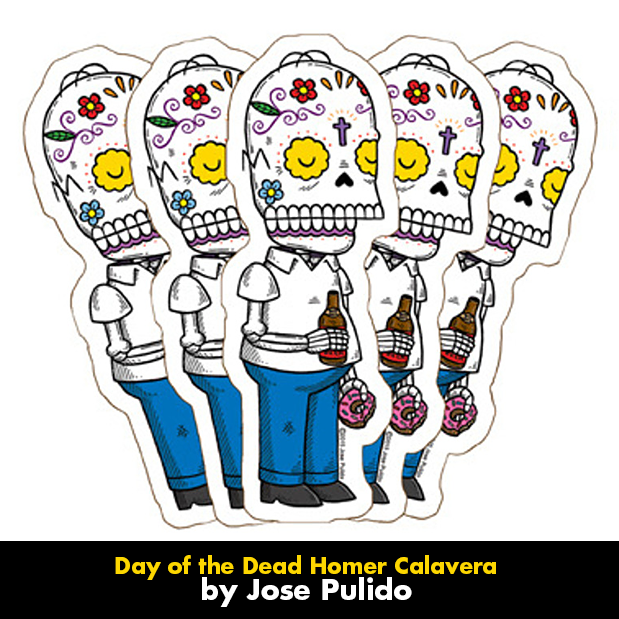 custom day of the dead stickers