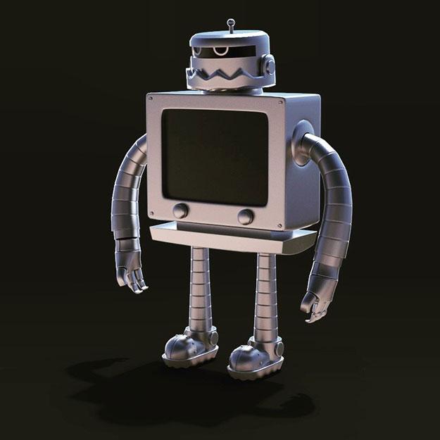 custom sticker robot