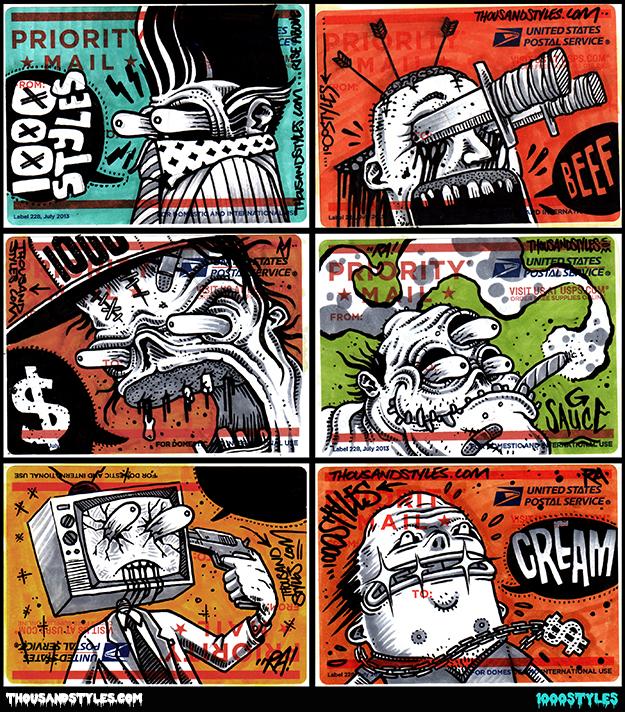 Postal Sticker Art by 1000Styles