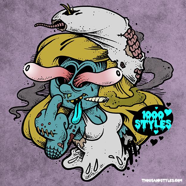Smurfette Sticker by 1000styles