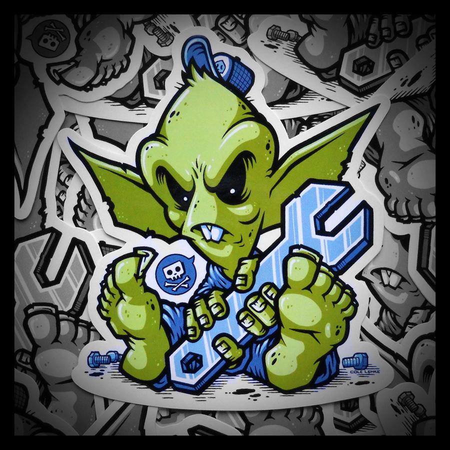 Die Cut LilGremlin Stickers
