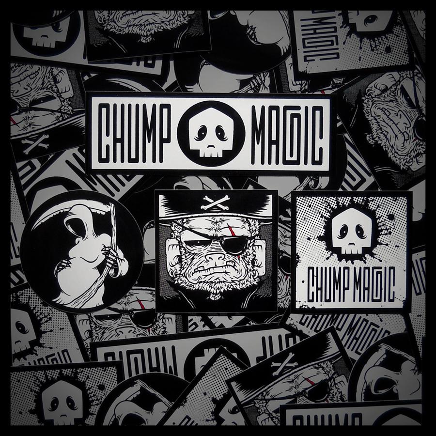 Chump Magic Custom Sticker Art