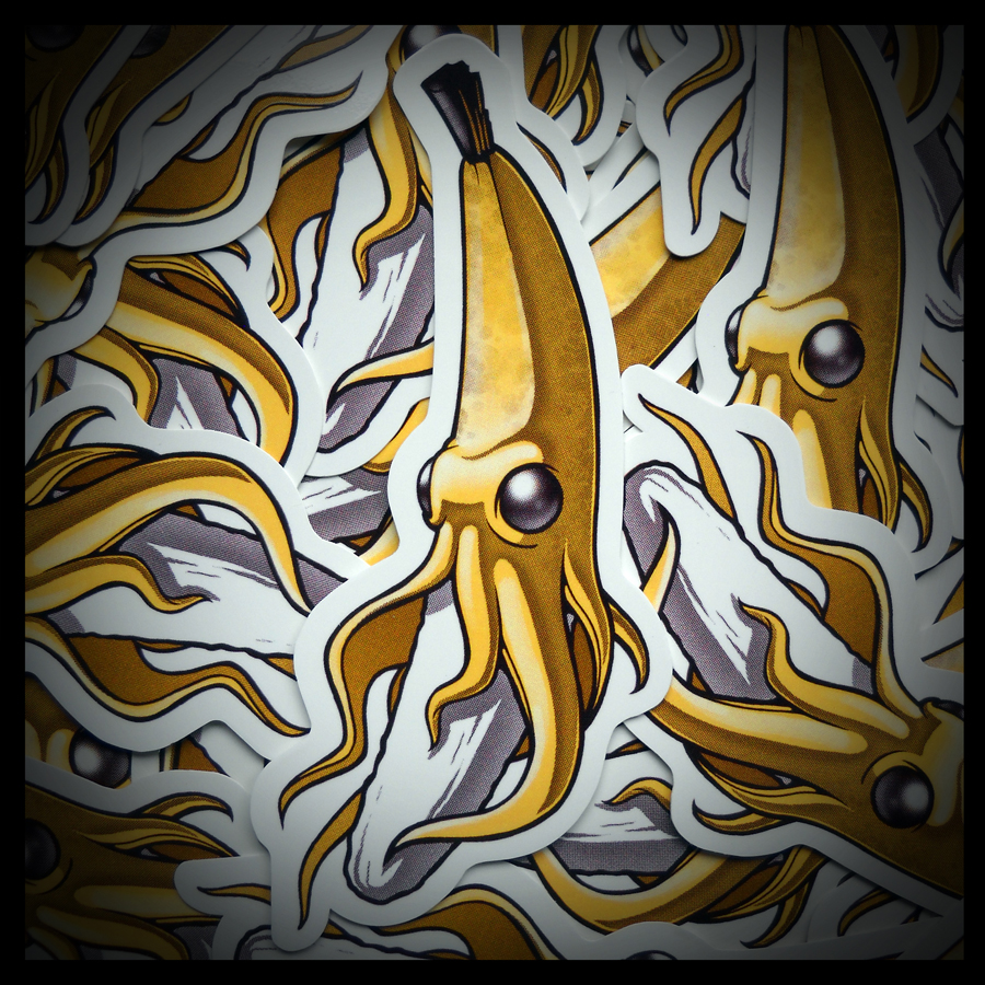 Die Cut BananaSquid Stickers
