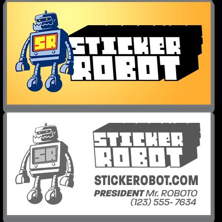 Business Card Sticker Template
