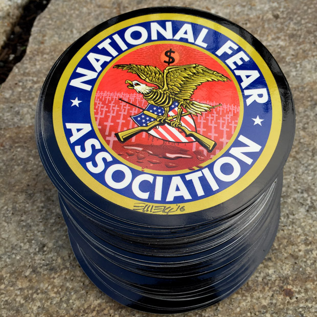 custom anti NRA stickers