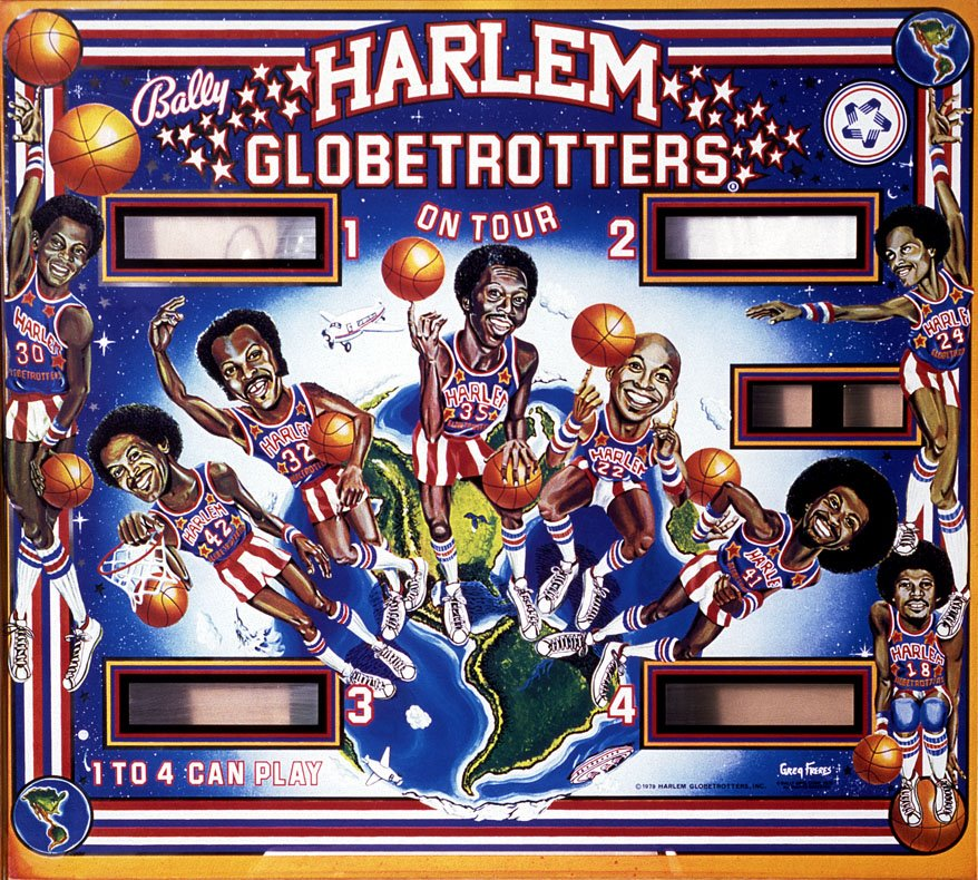 Greg Freres Harlem Globe Trotters Backglass