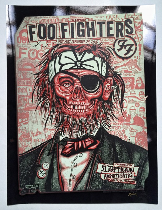 Zoltron Foo Fighters Silkscreen Poster